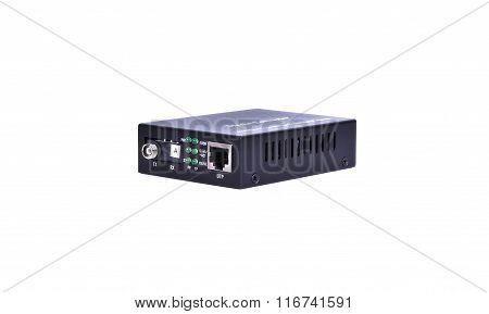 Fiber Optic Media Converter With Metalic Rj45 Connector And Fc Fiber Optic Connector