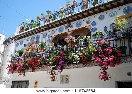 Pretty townhouse balcony, Granada.
