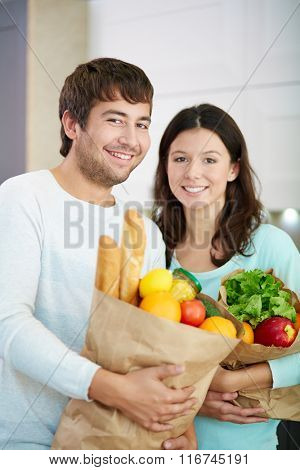 Couple with products