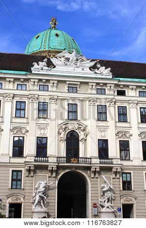 Hofburg Palace Is The Former Imperial Palace In The Centre Of Vienna