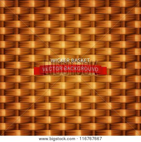 Vector texture. Wicker basket.