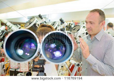 seeing through a telescope