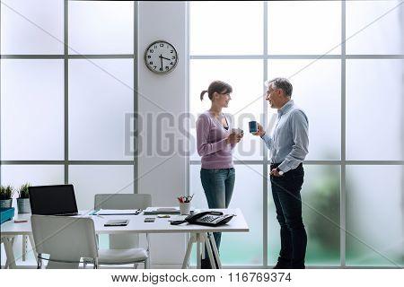 Colleagues Having A Coffee Break