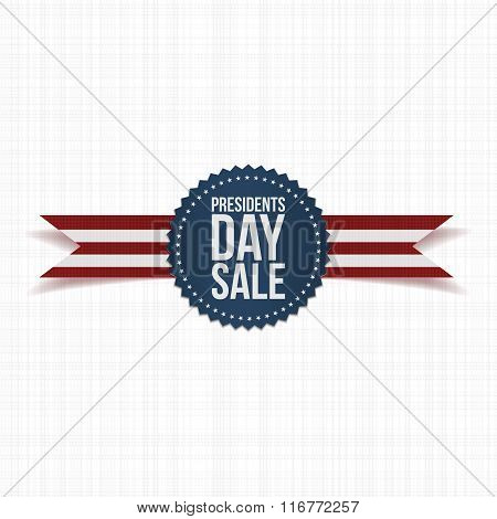 Blue Emblem with Presidents Day Sale Text