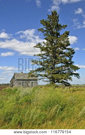 Lone house on the prairie