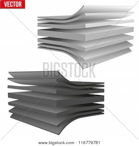 Technical illustration of a multilayer material