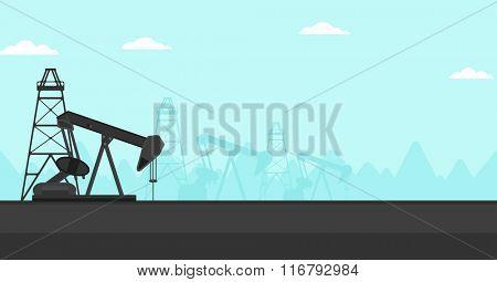 Background of oil derrick.