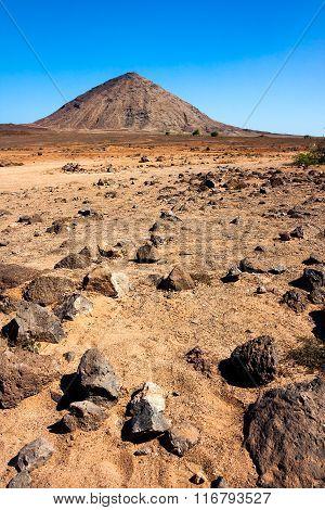 Volcanic peak on Sal Island, Cape Verde