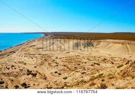 Long shot landscape at Punta Loma