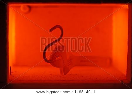 Muffle Furnace With A Pott