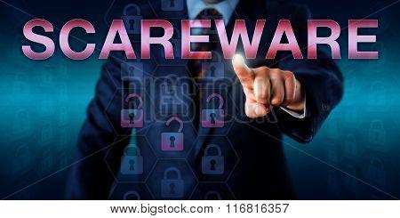 Management User Touching Scareware Onscreen