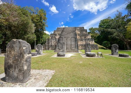 Ancient Structure  In Tikal National Park And Archaeological Site, Guatemala