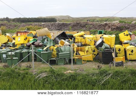 Dumpsters On A Rubbish Dump