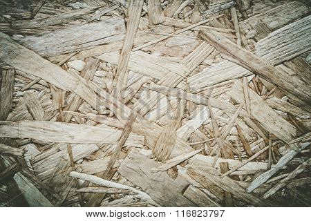 Wood Particle Board. Scraps of wood panel. Wood texture background.