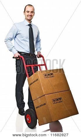 Man With Handtruck