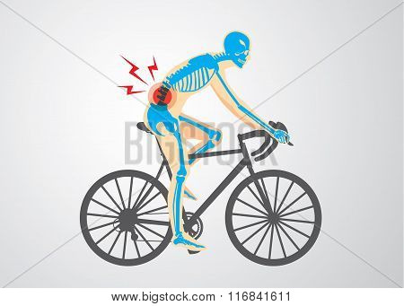 Spine pain of biker