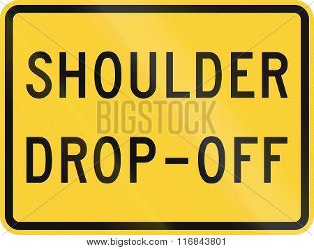 United States Mutcd Road Sign - Shoulder Drop Off