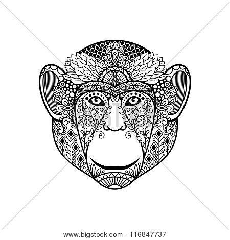 Zentagle monkey head