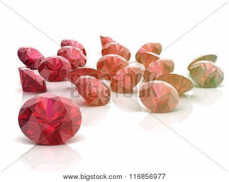 Ruby On White Background
