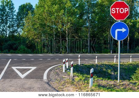 Obligatory Stop Sign At An Intersection On A Country Road