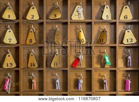 Hostel Room Keys