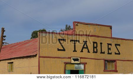 Wooden Stables Building