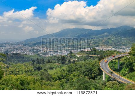 road in the mountains, colombia, latin america