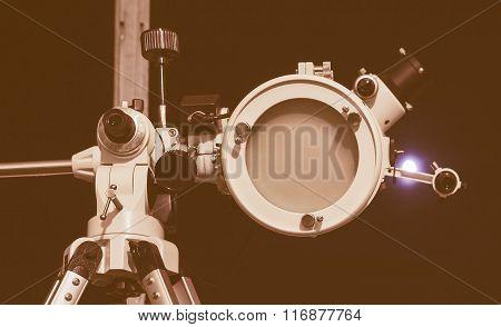 Retro Looking Astronomical Telescope