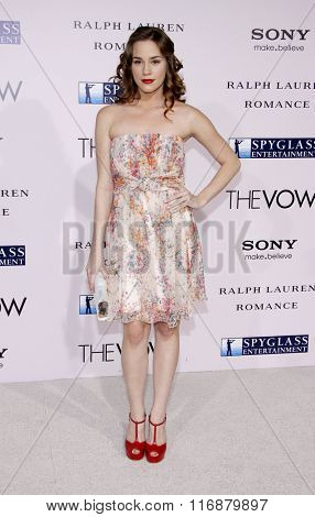 Christa B. Allen at the Los Angeles Premiere of