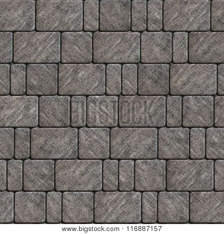 Texture of Gray Scuffed Concrete Pavement.