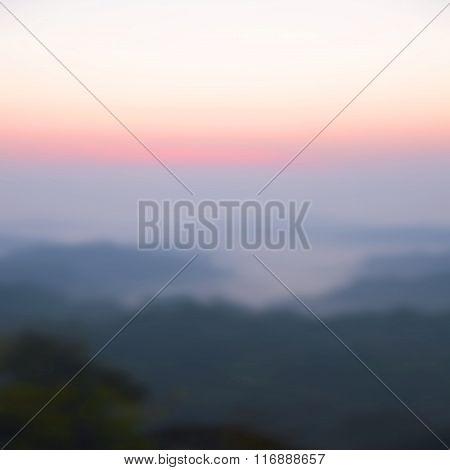 Blurred Sunrise Background, the Natural Lighting Phenomena.