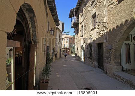Barcelona, Spain - August 31, 2012: Poble Espanyol Or Spanish Village