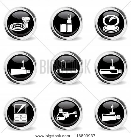 Make-up icons set
