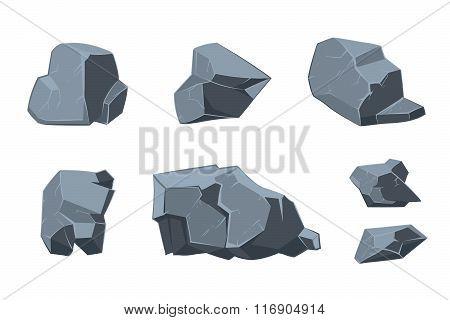 Rock vector cartoon elements