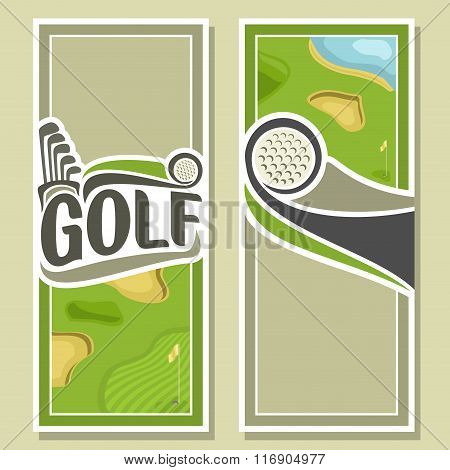 Background images for text on the theme of golf