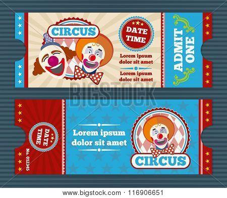 Circus ticket vector template