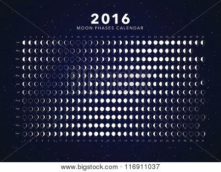 moon phases calendar vector