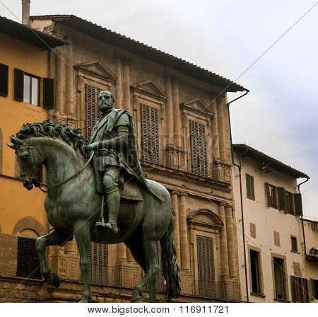 horse and rider statue florence