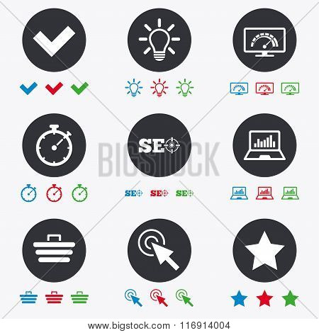 Internet, seo icons. Bandwidth speed sign.