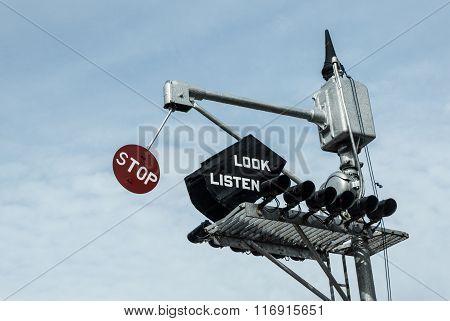 Historic Railroad Warning