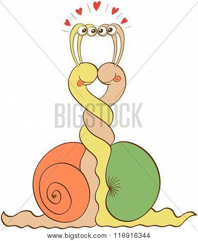 Slimy snails falling in love