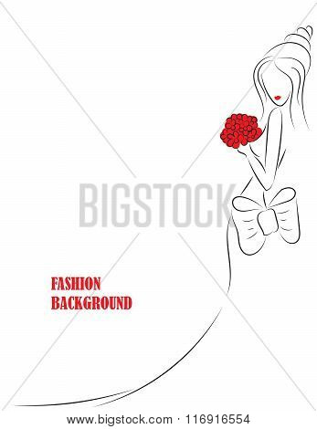 fashion background with girl or woman