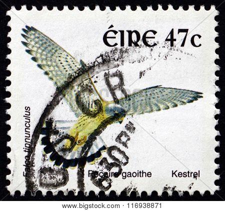 Postage Stamp Ireland 2002 Kestrel, Bird Of Prey
