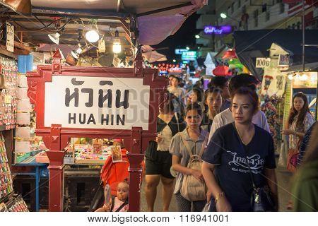 Tourists Visit Hua Hin Night Market