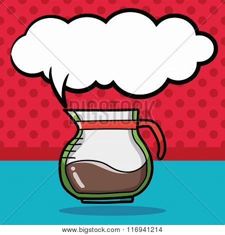 Coffee Kettle Maker Color Doodle