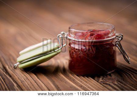 Natural diy red onion marmalade