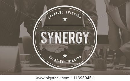 Synergy Teamwork Corporate Collaboration Cooperation Concept