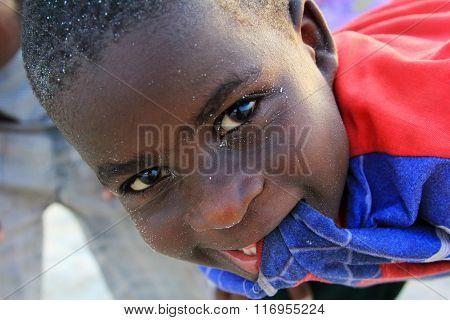 Little Cheerful African Boy