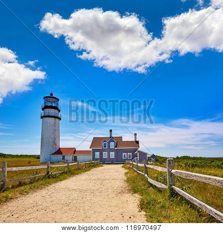 Cape Cod Truro lighthouse in Massachusetts USA