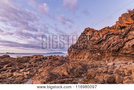 Lava Rock Cross